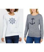 NEW NAUTICA Stylist Soft Long Sleeve Thin Knit Sweater 100% Cotton Navy/... - $29.99