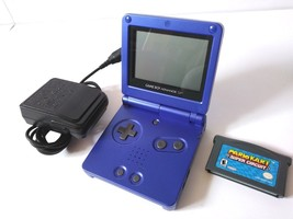 NINTENDO Game Boy Advance SP AGS-001 Cobalt w/Mario Kart & Charger! Mint... - $79.95