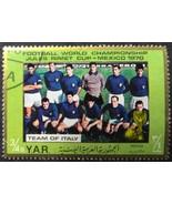 Mexico 70 Team Italy Yemen Postage Stamp - $0.99