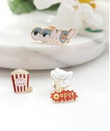 Popcorn OMG Pin Set, Set of 3 Pins, Cute Marilyn Monroe Pin Button Lapel... - $16.63
