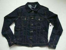 New Gap Women's Denim Jacket Dark Indigo Size S - $39.59