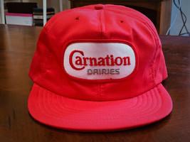Vintage Carnation Dairies Trucker Hat Cap w/ Patch - Adjustable Snapback... - $17.99
