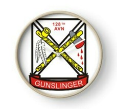 US Army 128th AHC Assault Helicopter Company GUNSLINGER Wall Clock - $69.29