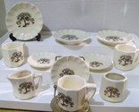 Vintage Ceramic Tea Set with Owls In A Tree