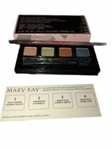 Mary Kay Mini Mineral Eye Color Quad Silky Caramel Lemongrass Amber Blaz... - $14.84