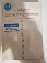 Twilight Breaking Dawn Part 1 Walmart limited ed with fabric poster [Blu-ray] image 1