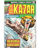 Ka-Zar Lord of the Hidden Jungle Comic Book #7 Marvel Comics 1975 VERY G... - $4.75