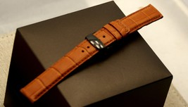 New Gucci 17 MM Brown Alligator Band - Reg -  With Deployment Clasp- (17.135D) - $59.95+
