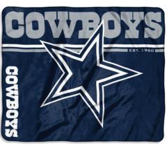 """*Dallas Cowboys 50"""" x 60"""" Restructure Design Soft Raschel Blanket Northwest NWT - $33.76"""