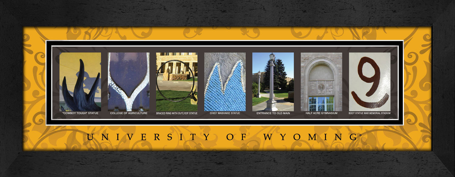 Primary image for  University of Wyoming Officially Licensed Framed Campus Letter Art