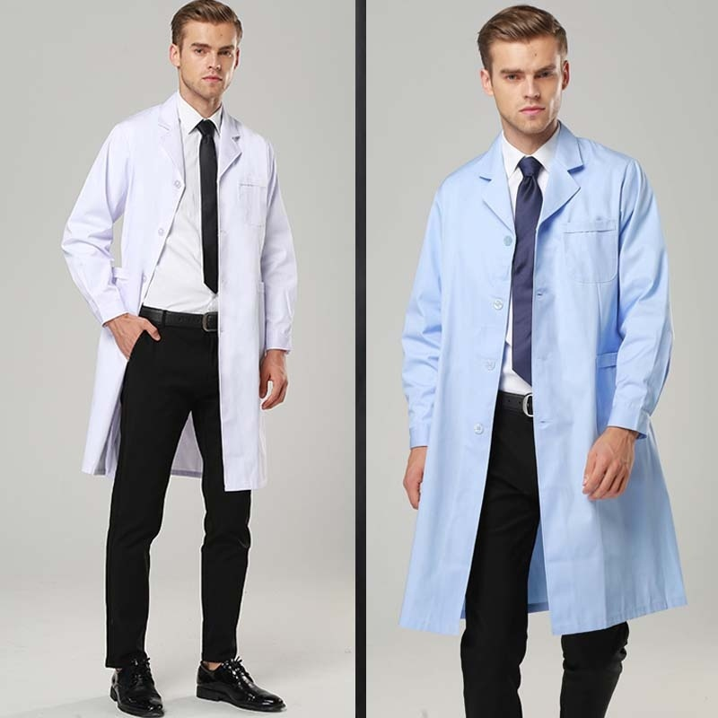 Hight Quality Women's Men's Fashion  Full-Length Lab Coat  Plug Size
