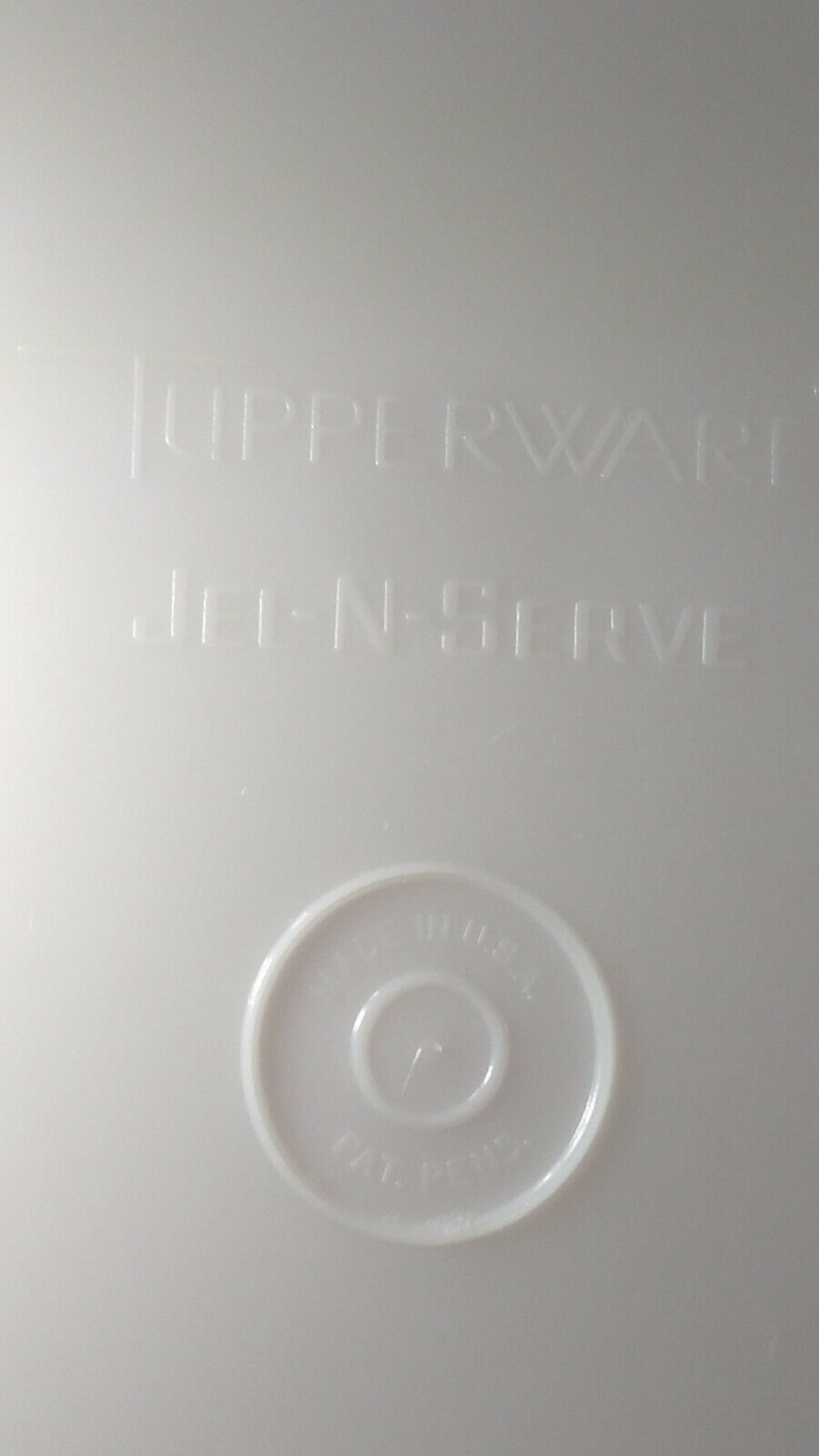 FUN Vintage Tupperware Jel-N-Serve Mold With White Tray and Heart Design Top image 9