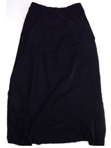Womens Talbots 10 Long Black Velour Skirt M - $18.00