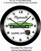 1971-1972 PLYMOUTH 340 DUSTER WALL CLOCK-FREE USA SHIP!, Chevrolet, Ford... - $28.70+