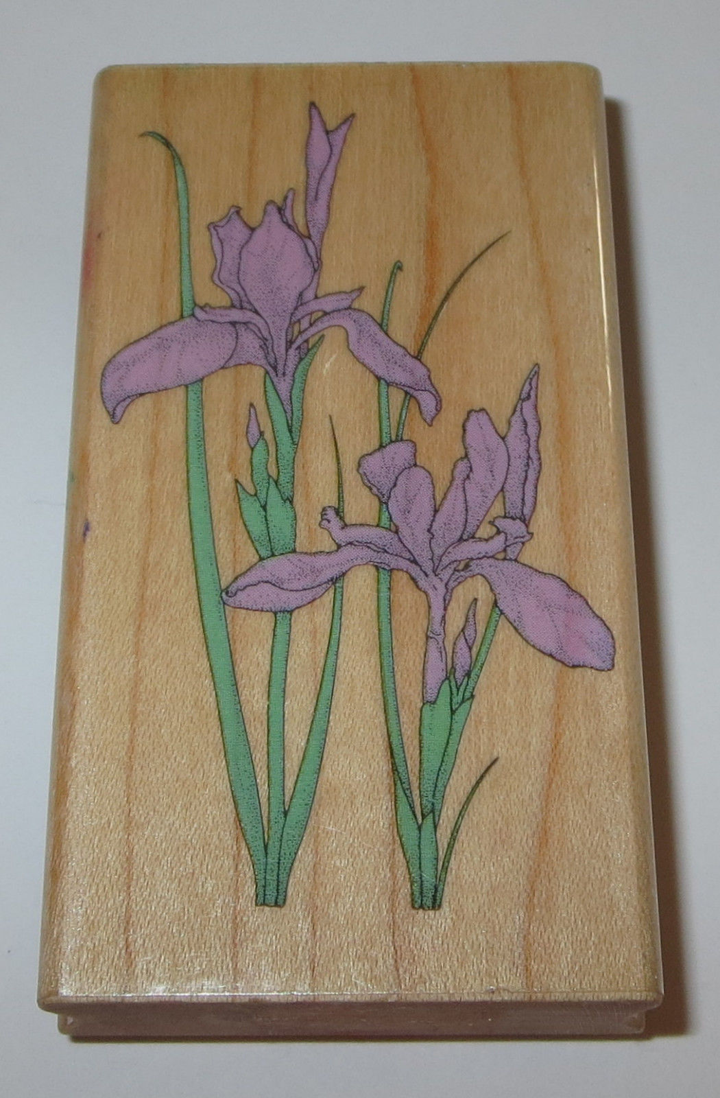 Iris Flowers Rubber Stamp Two Irises Hero And Similar Items