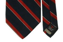 Robert Talbott for Michael Davit Ltd, Blue and Red Stripes Silk Neck Tie - $7.93