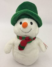 "2006 Ty Pluffies Mr. Snow Plush With Tag 8"" Snowman Hat Scarf - $17.81"