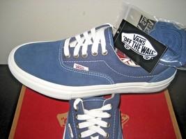Vans Mens Era Pro Insignia Blue Marshmallow White Skate Boat shoes size ... - $54.39