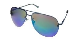 Timberland Men Black Rimless  Sunglass Metal Aviator, Green Flash Lens T... - $17.99