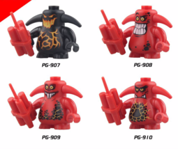 4pcs Fit Lego PG8008 Knights Castle Warrior Scurrier with 6 teeth Angry ... - $16.99