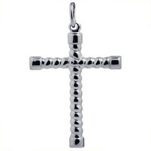 Solid 925 Sterling Silver Fancy Crucifix Charm Pendant - $12.90+