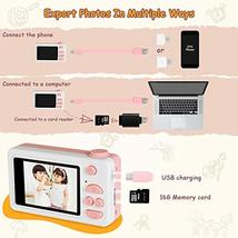 "Kids Camera Gifts for Girls, 2"" IPS Screen 8.0MP Shockproof Mini Child Video Cam image 3"