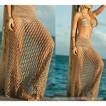 Sexy Mesh Crochet Bikini Cover Up Women Beach Dress Swimwear Bathing Sui... - $28.98