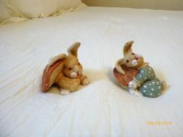 Pair of The Westin Shanghai Ceramic Resin Small Rabbit Figurines  - $14.01