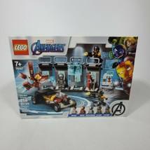 LEGO Marvel Avengers Iron Man Armory 76167 Superhero Building cave brand... - $49.49