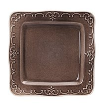 Kylin Express Creative Hand-Painted Square Ceramic Dinner Plate Fruit Plate 10 I - $48.14