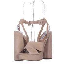 Steve Madden Jodi Platform Sandals 017, Blush SUede, 6.5 US - $25.91