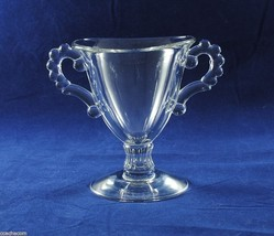 Candlewick Open Sugar Bowl Clear Crystal Imperial Glass Beaded Handles - $7.50