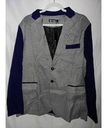 Allegra K Suit Jacket Blazer Black Houndstooth 2 Pockets L 44 New - $38.60