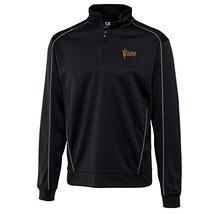 NCAA Arizona State Sun Devils Men's CB DryTec Edge Half Zip Jacket, Black, Mediu