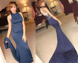 High neck blue mermaid sexy party cocktail evening long prom dresses online pd0192 thumb155 crop