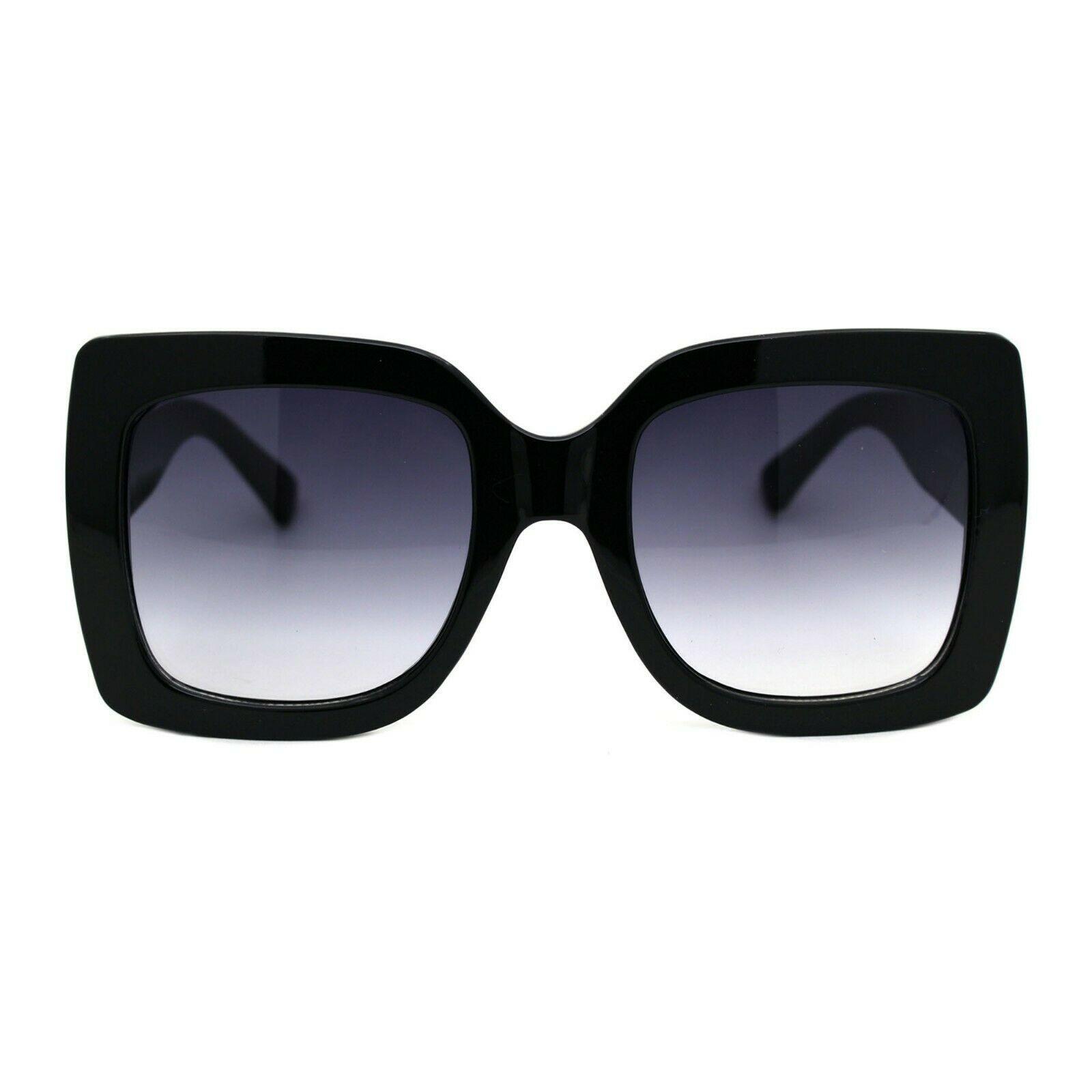 Womens Oversized Fashion Sunglasses Stylish Big Square Frame UV 400