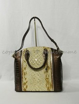 NWT Brahmin Large Duxbury Satchel/Shoulder Bag in Honey Carlisle image 2
