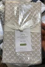 Pottery Barn Set 2 Jerri Print King Pillowcases Flax Pair Neutral Jerrie... - $22.00
