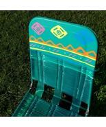 Folding Lawn Chaise Lounge Chair Deck Pool Vinyl Tube Plastic 80s 90s Vi... - $123.75