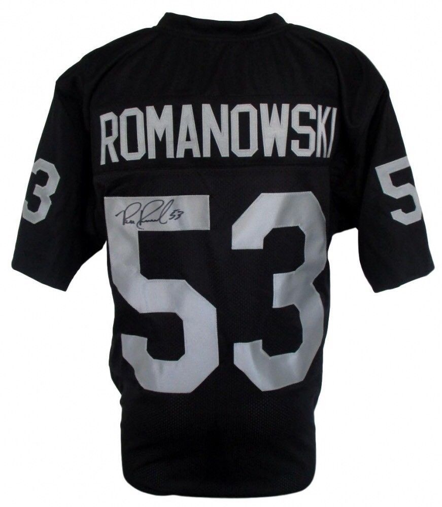 S l1600. S l1600. Previous. Bill Romanowsky Oakland Raiders Autographed  Signed Jersey IA COA Hologram c5d067484