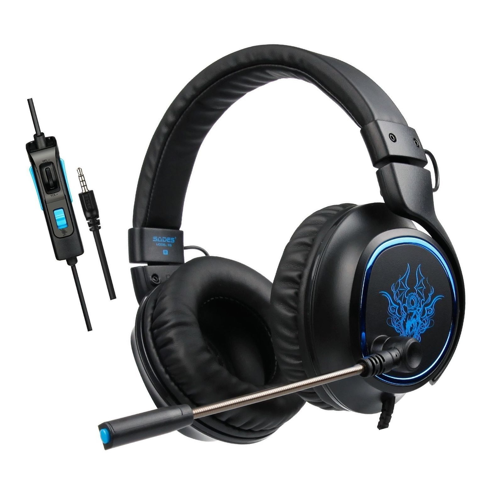Over Ear Gaming Headset, Sades R5 PS4 New Xbox One PC Gaming Headphones, Bass...