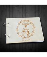 Buythrow® Kissing Bride And Groom Wedding Signature Guestbook Custom Nam... - $29.61