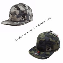 UNDER ARMOUR UA NEW MENS QUILTED SNAP BACK CAMO HAT CAP NWT GRAY/GREEN - $19.95