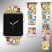 Disney Tsum Tsum Apple Watch Band 38 40 42 44 mm Fabric Leather Strap 02 - $29.97