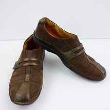 Clarks Unstructured Brown Suede w/ Leather Trim Womens Shoes Sz 9 1/2 M - $38.67