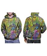 DMT DRUG Dark Psychedelic Hallucinogen lsd acid hippie Hoodie Mens - $41.80 - $51.80