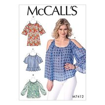 McCall's M7412ZZ0 Misses' Tops and Tunic Pattern 16-18-20-22-24-26 - $9.80