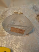 Mikasa Golden Stars Nativity Scene Evita Lead Crystal Frosted Glass Germany image 5