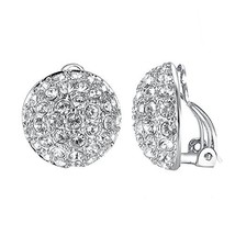 Yoursfs Clip on Earrings for Women Bridal Crystal Earrings White Crystal... - $17.52