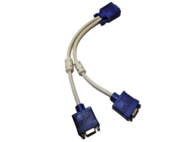 VGA Splitter Cable (VGA-Y) for Screen Duplication, 1 Foot image 2